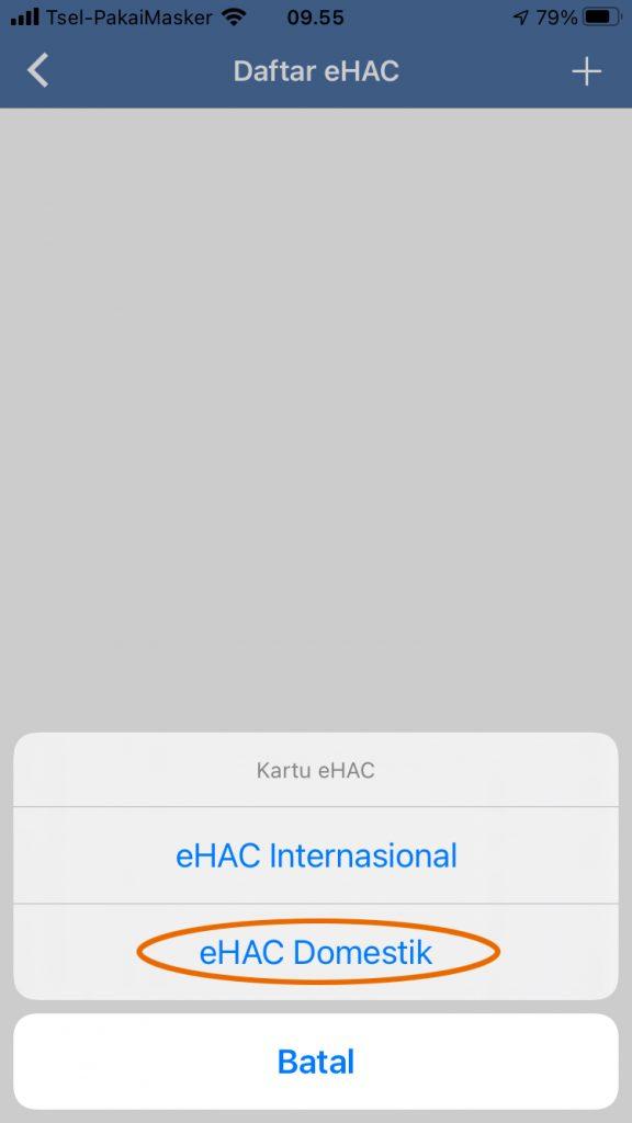 Panduan Mengisi eHac Indonesia
